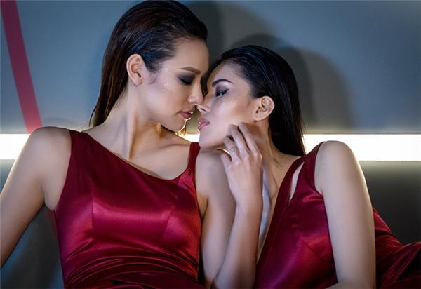 Lilly Nguyễn quyến rũ từng centimet với sắc đỏ rượu