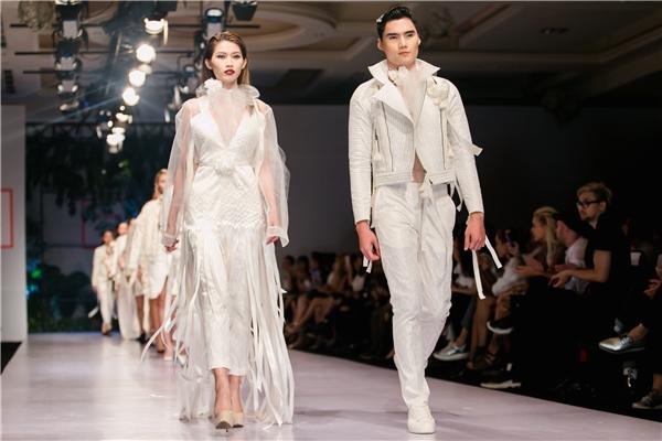 Trong chương trình này, cặp đôi Quang Hùng, Quỳnh Châu cũng tham gia trình diễn với vai trò chốt màn cho bộ sưu tập của nhà thiết kế Trương Thanh Long. Hai người mẫu trẻ nhận nhiều lời khen bởi sự tự tin, hòa hợp trên sàn diễn.