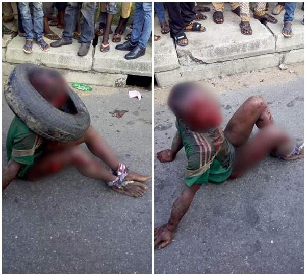 Nạn nhân bị đánh đập, lột quần và trói chặt 2chân một cách đầy thô bạo.