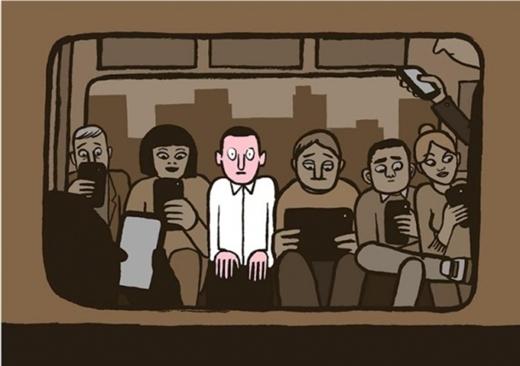 """Trên các phương tiện giao thông công cộng như xe buýt, tàu điện ngầm, ít khi nào chúng ta bắt gặp ai đó không cầm một chiếc điện thoại trên tay và làm cùng một động tác lướt qua lướt lại ngón cái trên màn hình. Có bao giờ bạn để quên điện thoại di động hay máy nghe nhạc """"bất ly thân"""" ở nhà, và cảm thấy vô cùng lạc lõng giữa những con người """"hiện đại"""" xung quanh chưa?"""