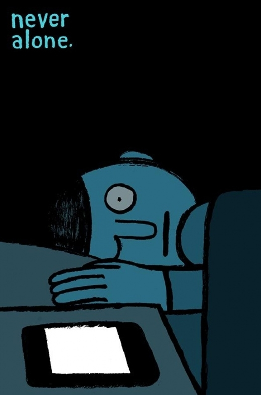 """""""Lắm mối, tối nằm không"""" là câu nói xưa rích. Khi màn đêm buông xuống, chỉ cần màn hình của bất kỳ một thiết bị điện tử nào còn sáng nhấp nháy thì cũng không cô đơn lắm đâu!"""