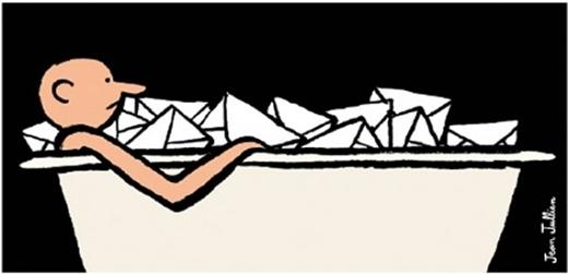 Những giây phút thư giãn đúng nghĩa của chúng ta đang bị nhấn chìm bởi áp lực từ việc làm, và đến một lúc nào đó trong tương lai gần, con người sẽ ngâm mình trong những lá thư công việc thay vì một bồn tắm nước nóng với mùi hoa oải hương thoang thoảng.