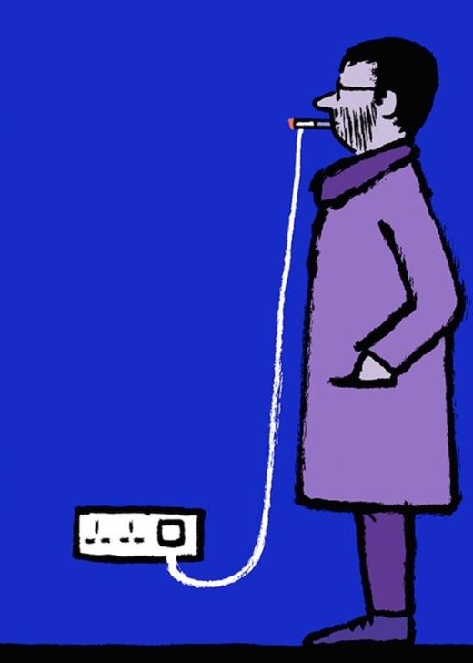 """Sớm thôi, ngay cả thuốc lá của các quý ông cũng sẽ được """"điện tử hóa"""", và nguy cơ bệnh phổi cũng sẽ được thuyên giảm đáng kể."""