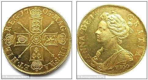 Đồng xu được đúc từ 314 năm trước. (Ảnh: internet)