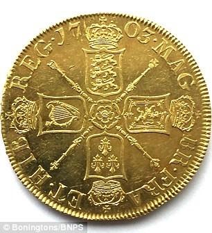 Đồng xu có in hình Nữ hoàng Anne Vigo. (Ảnh: internet)