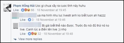 """Phạm Hồng Hải bày tỏ """"ước gìchưa xảy ra cuộc tình này""""."""