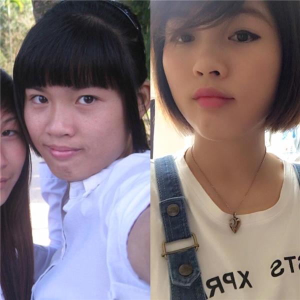 Bức ảnh của cô gái năm 2010 và hiện nay. Sau 6 năm bạn ấy cũng thay đổi khá nhiều đấy chứ đúng không?(Ảnh: Internet)