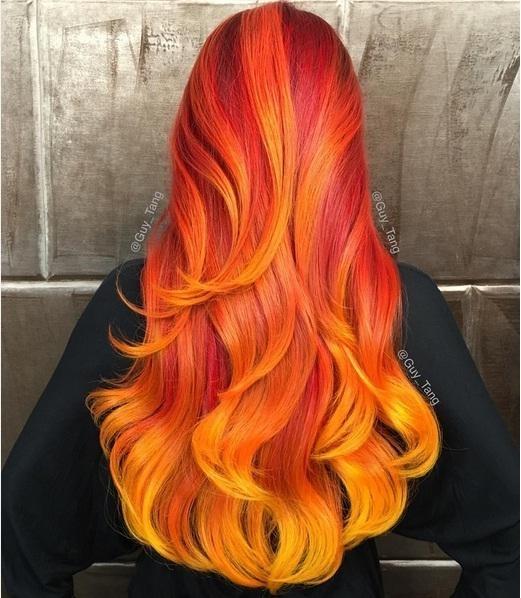 Mùa đông đến rồi, hãy làm ấm bằng mái tóc đó cam rực rỡ.