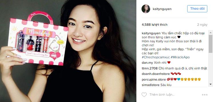 """Kaity Nguyễn cũng mê mẩn """"Chiếc hộp cảm xúc"""" siêu xinh này vì son đẹp mà giá lại vừa túi tiền."""