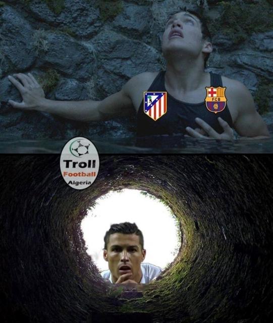 Ronaldo bên trên miệng hố nhìn xuống. (Ảnh: internet)