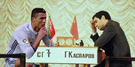 Thách đấu cờ vua vớikìthủ Kimovich Kasparov. (Ảnh: internet)