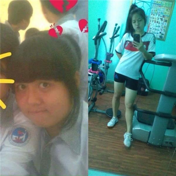 Trong 2 tháng ăn kiêng và chạy bộ tại phòng gym, cô nàng này đã giảm từ 75kg xuống còn có 53kg thôi đấy.(Ảnh: Internet)