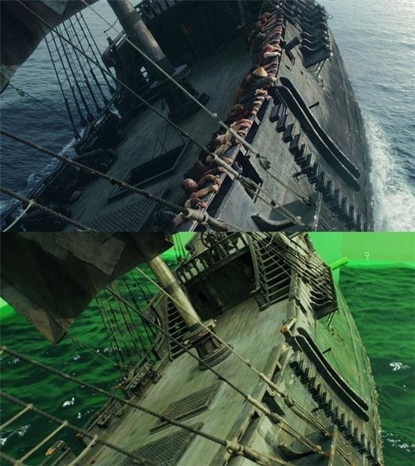 Sự khác nhau một trời một vực giữa thực tế và trong phim của con tàu trongCướp biển vùng Caribbean.