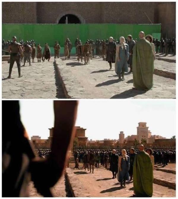 Với các bối cảnh phim sử thi như kiểuGame of Thrones, nhà làm phim Hollywood tận dụng tối đa việc sử dụng công nghệ ảnh.