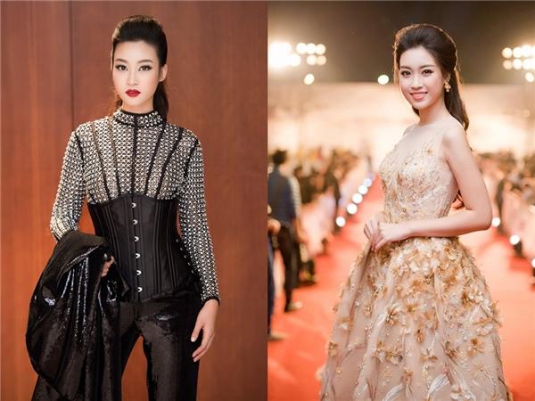 Xuất hiện trên thảm đỏ Tuần lễ Thời trang Quốc tế Việt Nam Thu - Đông 2016, Hoa hậu Đỗ Mỹ Linh gây bất ngờ khi diện bộ cánh cá tính của nhà thiết kế Chung Thanh Phong. So với hình ảnh từ sau khi đăng quang, đây được xem là sự thay đổi mạnh mẽ của Mỹ Linh.