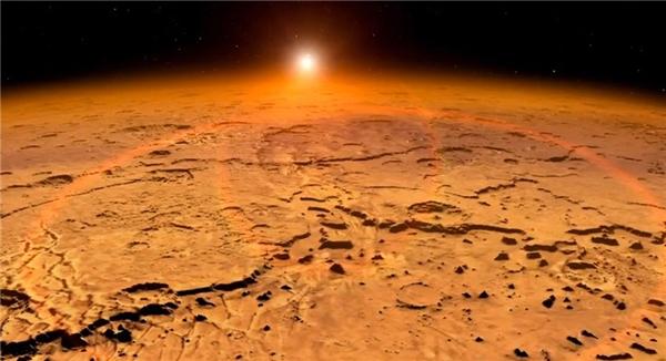 Do ở xa Mặt trời nên khí hậu sao Hỏa khá khắc nghiệt.
