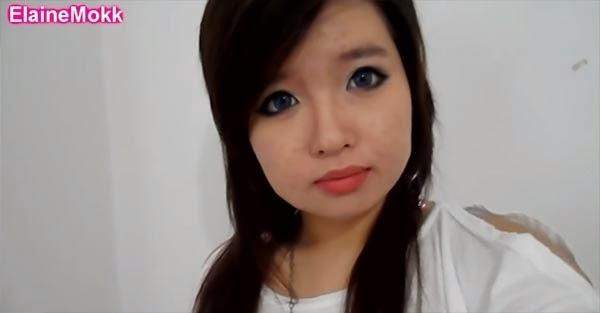 """Sau khi trang điểm, khuôn mặt lổn nhổn mụn của cô đã được """"che lấp"""" hoàn hảo."""