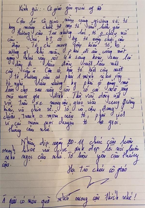 Bức thư tay anh chồng kì công viết gửi cho vợ.(Ảnh: Internet)