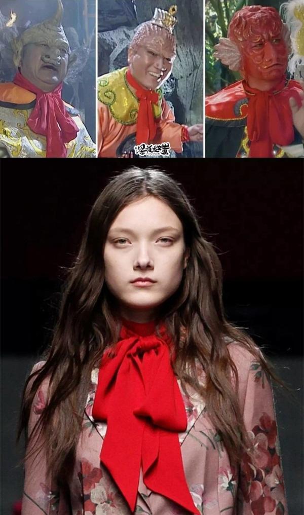 Từ màu sắc đến cách buộc, chiếc nơ của Gucci sao lại giống các yêu quái đến thế.