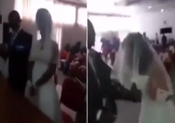 Nhân tình mặc váy cưới đến phá đám hôn lễ của chú rể