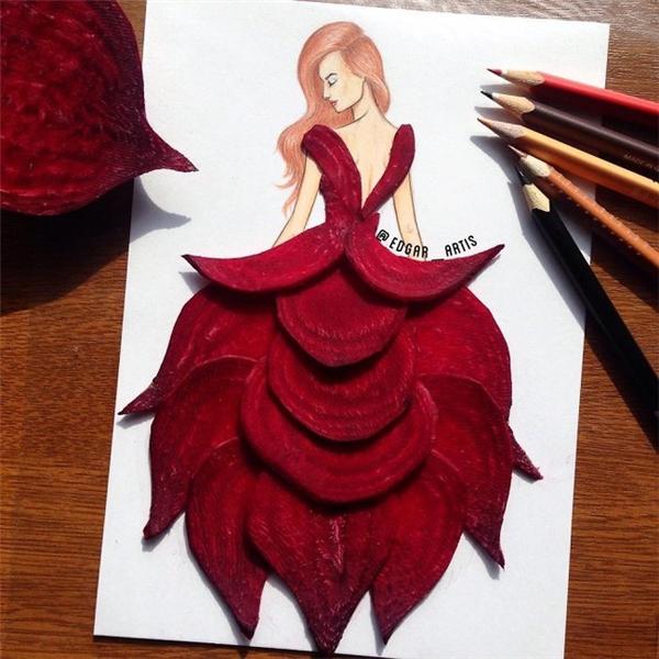 Mê mẩn ngắm nhìn những chiếc váy tuyệt đẹp được làm từ đồ ăn