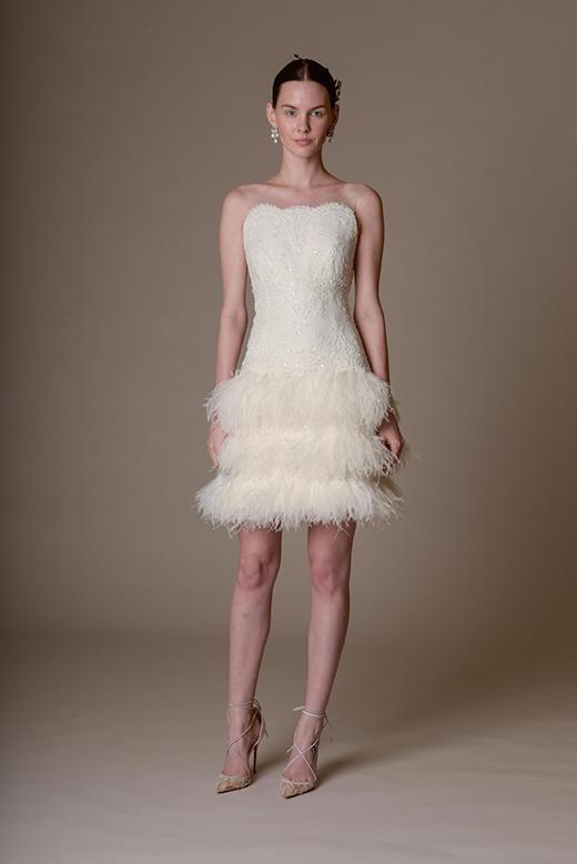 Váy cưới ngắn ấn tượng