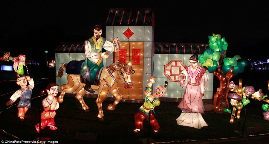 Lễ hội đèn lồng tại Đài Loan năm 2015 đã thu hút hơn 10 triệu người đến tham quan chỉ trong vòng 11 ngày.