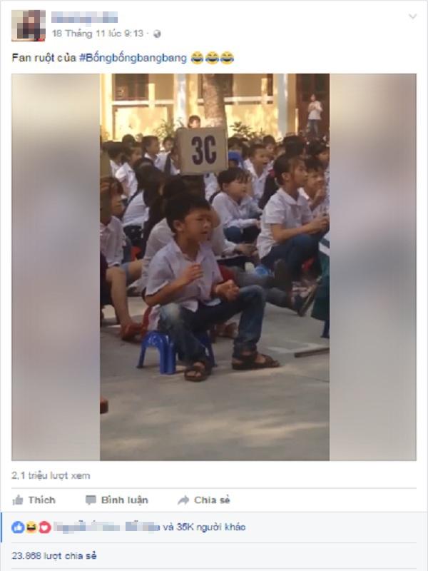 Fan cuồng 8 tuổi phiêu theo hit Bống bống bang bang cực yêu