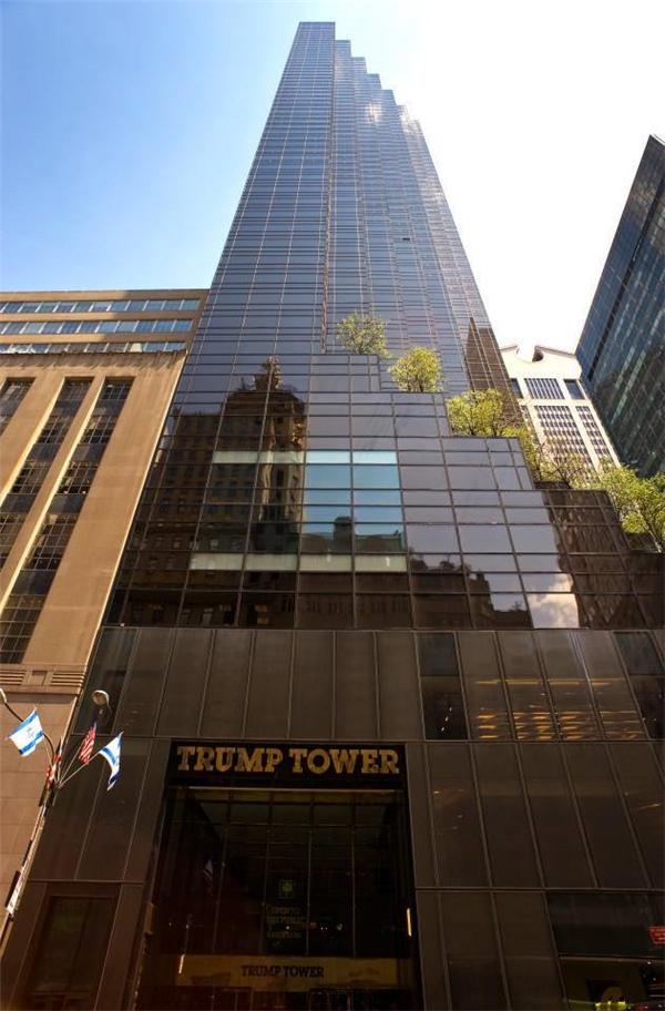 Tòa nhà trung tâm Trump Tower, nơi tân Tổng thống DonaldTrump đã sống trước khi chuyểnvào Nhà Trắng. (Ảnh: Internet)