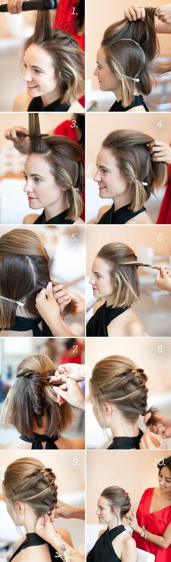 Kiểu tóc cầu kì này là một gợi ý tuyệt vời cho những buổi hẹn hò hoặc sự kiện quan trọng.