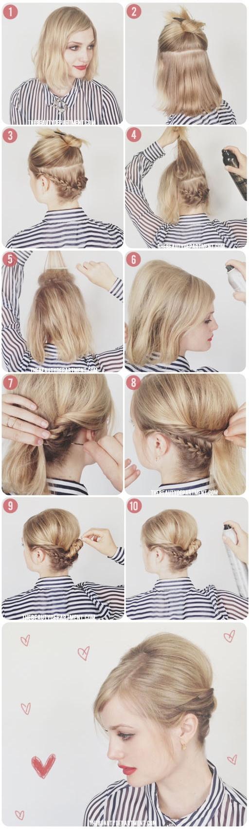 Ai mà tin kiểu tóc này được tạo ra từ tóc ngắn cơ chứ?