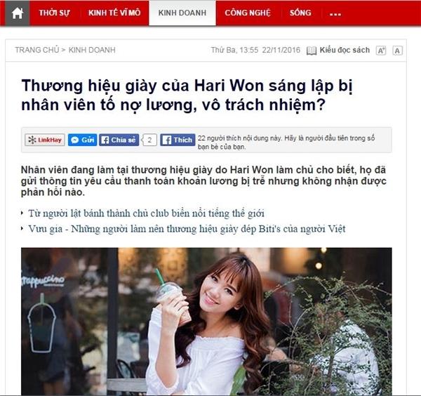 Quản lý cũ Hari Won: Cô ấy hoàn toàn không có trách nhiệm - Tin sao Viet - Tin tuc sao Viet - Scandal sao Viet - Tin tuc cua Sao - Tin cua Sao