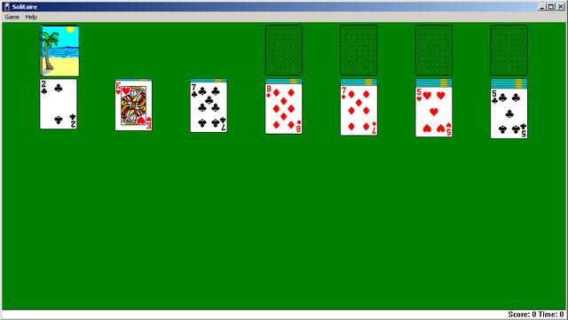 Game xếp bàiSolitaire trên hệ điều hành Windows của Microsoft. (Ảnh: internet)