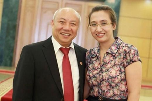 BTV Vân Anh và chồng.
