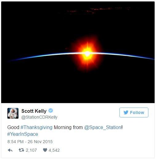 Độc đáo Lễ Tạ ơn ngoài không gian có một không hai