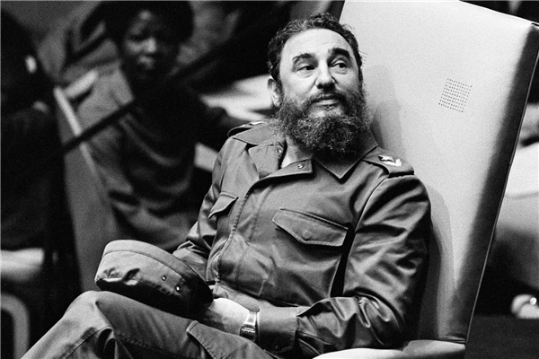 Chân dung nhà lãnh đạo vĩ đại Fidel Castro tại một cuộc họp của Liên Hiệp Quốc vào năm 1979