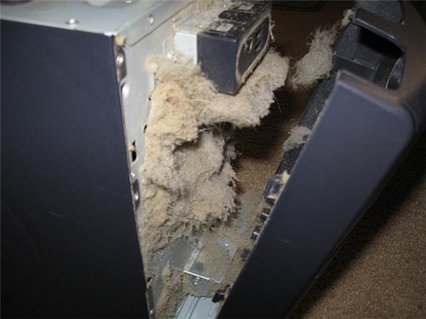 Lượng bụi kẹt trong máy còn nặng hơn cả số linh kiện của nó nữa.