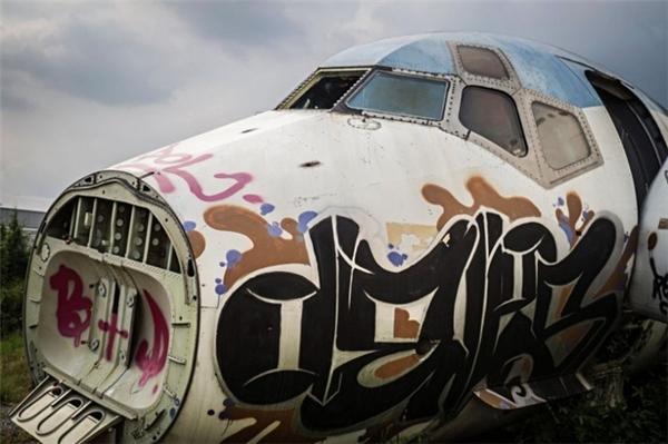 """""""Căn nhà"""" xác máy bay tại ngoại thành Bangkok."""
