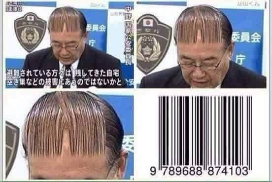Khi mã vạch trở thành mốt làm tóc rất được ưa thích.