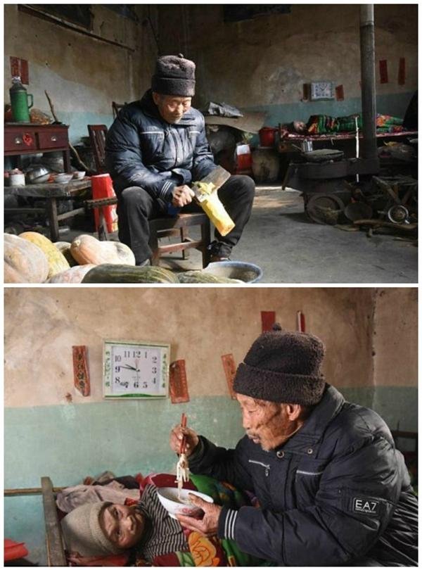 Từ ngày vợ bênh, ông Du đã xin nghỉ việc ở khu mỏ than mà chuyển qua làm đồng để có thời gian chăm sóc bà Zhou.