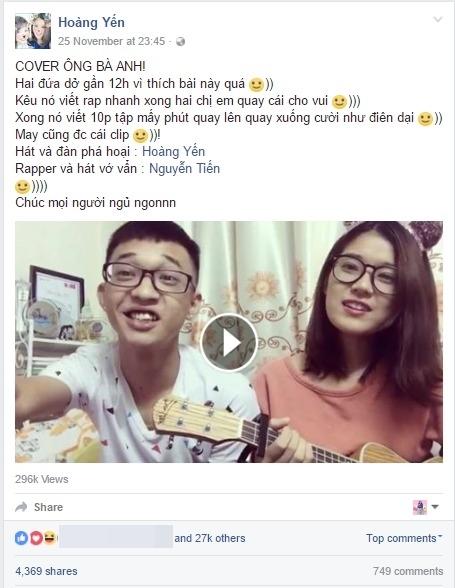 Hoàng Yến Chibi và em trai cover hit Ông bà anh cực dễ thương