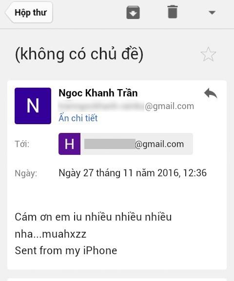 Sau đó, một địa chỉ email khác được cho là Ngọc Khanh còn phản hồi lại một cách cảm kích. - Tin sao Viet - Tin tuc sao Viet - Scandal sao Viet - Tin tuc cua Sao - Tin cua Sao