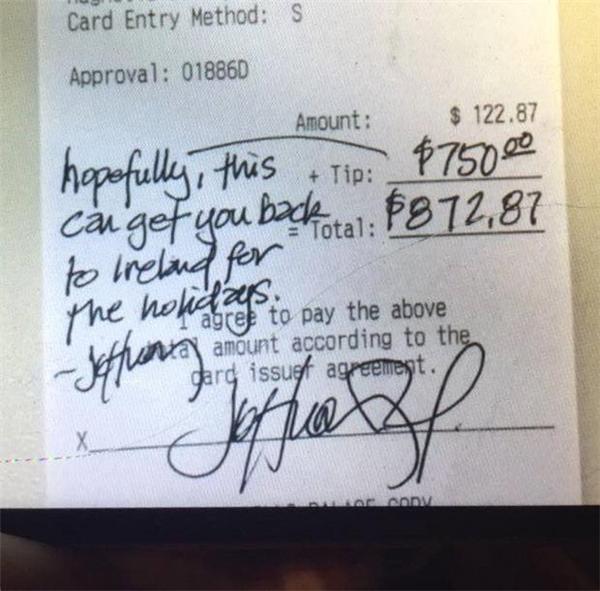 ÔngJeffery đã không quên để lại lời nhắn cho Ben.