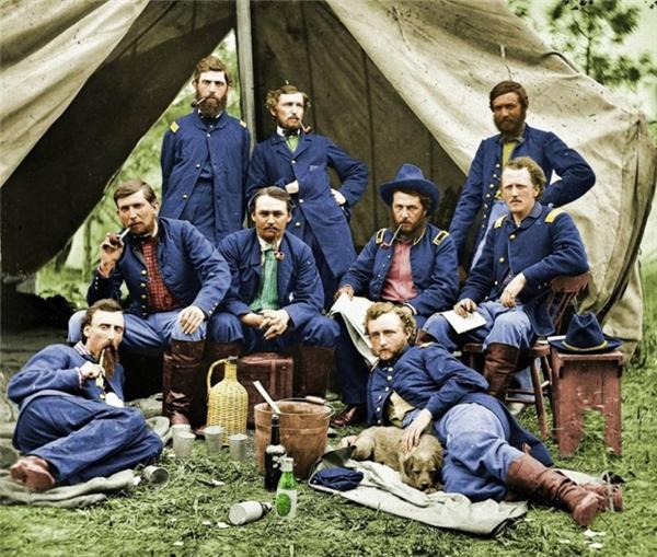 Những người lính Liên bang miền Bắc trong thời Nội chiến Hoa Kỳ, 1863.