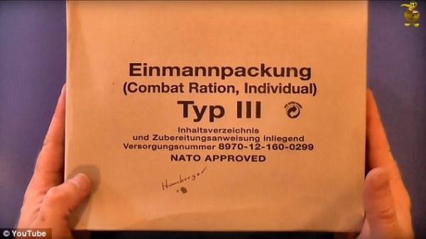 Món chính của các binh sĩ tại Đức khá phong phú.