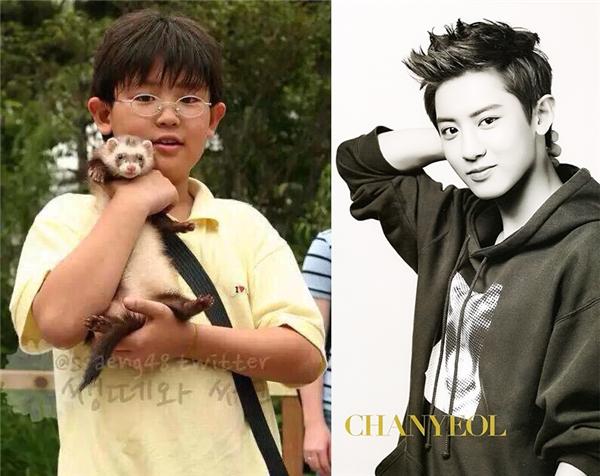 Không chỉ có khuôn mặt baby, Chanyeol ngày xưa còn vô cùng mũm mĩm siêu đáng yêu.