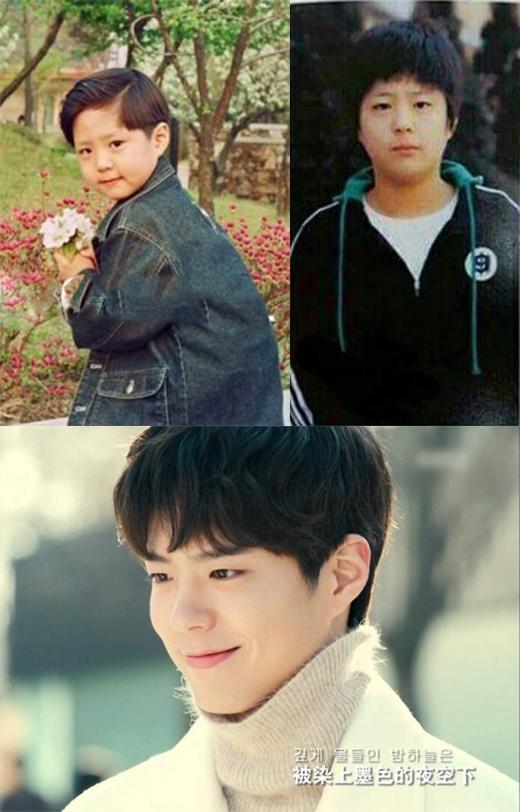 Ai có thể ngờ được cậu bé tròn trịa trên kia chính là mĩ nam Park Bo Gum người gặp người yêu cơ chứ.