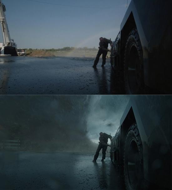 Trờiđẹpđến mức chúng ta có thể thấyđược cả cầu vòng thế mà vào phim thì cứ là bão tố.