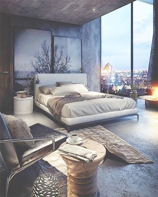 Phòng ngủ có view đẹp không tưởng, ngỡ như chỉ có trên phim Hollywood!
