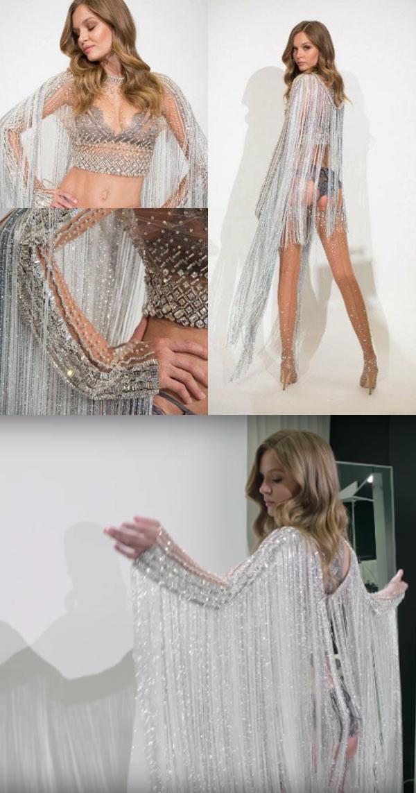 Mẫu nội y có đôi cánh được làm từ450.000 viên pha lê và 3.000 sợi pha lê Swarovski lấp lánh này sẽ do thiên thần Josephine Skriver trình diễn trên sàn Victoria's Secret Fashion Show 2016 ngày 5/12 sắp tới.